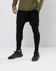 Sixth June Slouchy Skinny Joggers With Drop Crotch Black
