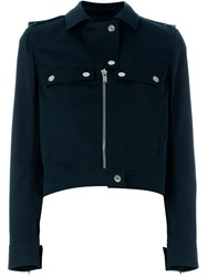 Courra Ges Biker Jacket Blue