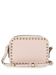 Valentino Rockstud Leather Camera Cross Body Bag Light Pink