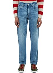 Gucci Destroyed Cuff Slim Leg Jeans Blue