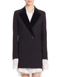 Mcq By Alexander Mcqueen Boyfriend Virgin Wool Blend Coat Darkest Black