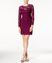 Jump Juniors' Lace Bodycon Dress Plum
