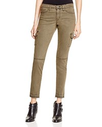 Flying Monkey Cargo Skinny Jeans In Army Green