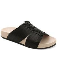 Nanette By Nanette Lepore Magda Woven Flat Slide Sandals Women's Shoes Black