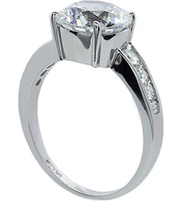Carat Round Brilliant 2.5Ct Solitaire Ring White