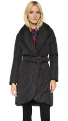 Add Down Down Wrap Coat Black