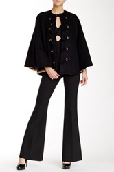 Rachel Zoe Ammon Toggle Front Wool Blend Cape Black