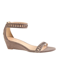 J.Crew Lillian Suede Lattice Low Wedges Warm Fig