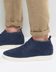 Fred Perry Shields Mid Suede Trainers Navy
