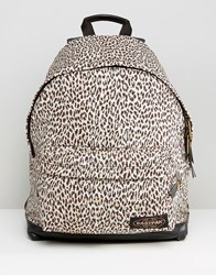 Eastpak House Of Hackney Wyoming Leopard Backpack Brown