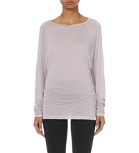 Sweaty Betty Asteya Jersey Top Pebble Grey