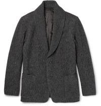 Issey Miyake Men Raschel Shawl Collar Boucle Jacket Gray