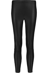 Iris And Ink Lila Cropped Stretch Leather Leggings Blue