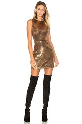 Ale By Alessandra X Revolve Lorena Dress Metallic Gold