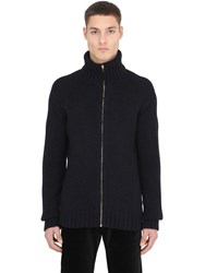 Ettore Bugatti Collection High Collar Zip Up Cashmere Sweater