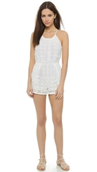 6 Shore Road By Pooja Pacific Lace Romper Moonlight White