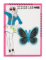 Design Lab Lord And Taylor Sequined Butterfly Patch Black