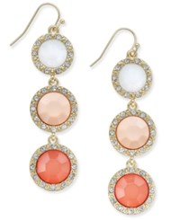 Inc International Concepts Gold Tone Pave Framed Ombre Stone Linear Drop Earrings Only At Macy's