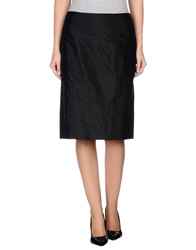 Caractere Knee Length Skirts Black