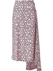 Marni Floral Print Skirt Pink And Purple