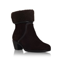 Carvela Comfort Robin Boots With Ankle Cuff Brown