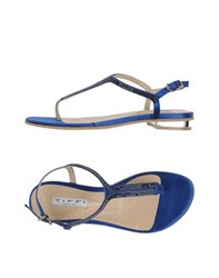 Tiffi Footwear Thong Sandals Women Dark Blue