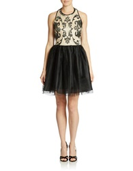 Hailey Logan Lace Bodice A Line Dress Black Nude
