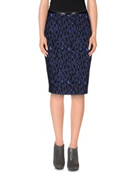Pf Paola Frani 3 4 Length Skirts Dark Blue