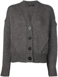 Roberto Collina Cropped Cardigan Brown