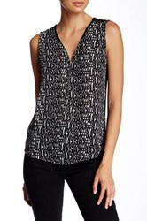 The Kooples Silk And Jersey Tank Gray