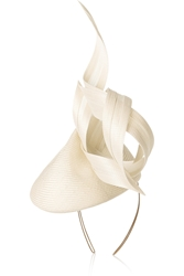Philip Treacy Buntal Scroll Parisisal Headpiece