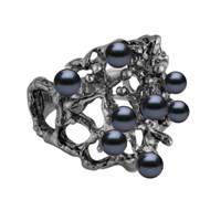 Solomeina Dark Courage Ring Black