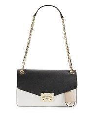 Karl Lagerfeld Colorblocked Convertible Leather Shoulderbag Black Colorblock