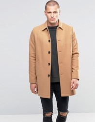 Asos Wool Mix Trench Coat In Camel Camel Tan