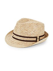 Tommy Bahama Buri Braided Raffia Fedora Natural