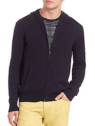 Saks Fifth Avenue Full Zip Hoodie Charcoal