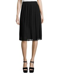 Laundry By Shelli Segal Pleated Pull On A Line Skirt Black