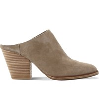 Steve Madden Milo Suede Mules Taupe Suede