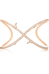 Stephen Webster Thorn Stem 18 Karat Rose Gold Diamond Cuff