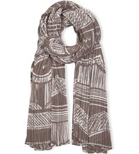 Issey Miyake Madame T Pleated Scarf Beige