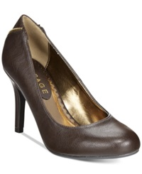 Rampage Omare Zip Back Pumps Women's Shoes Dark Brown