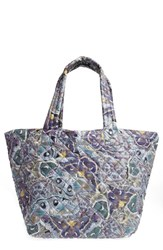 M Z Wallace Mz 'Medium Metro' Quilted Oxford Nylon Tote Blue Luna Print