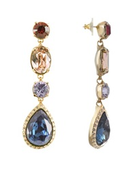 A Z Collection Multicolor Drop Earrings Gold