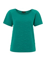 Pied A Terre Textured Jersey Couture Tee Green