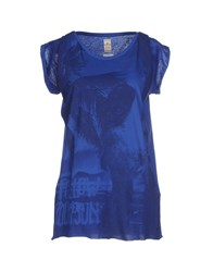 Replay Topwear T Shirts Women Blue