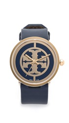 Tory Burch Large Reva Watch Gold Navy