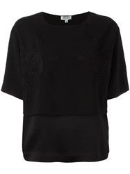 Kenzo Embroidered Oversized T Shirt Black