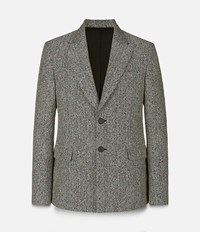 Christopher Kane Crazy Tweed Single Breasted Tailored Jacket Grey
