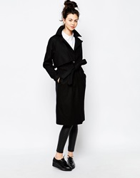 Dr. Denim Dr Denim Structured Belted Coat 101Black