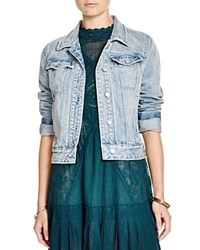 Free People Fitted Denim Jacket Forge